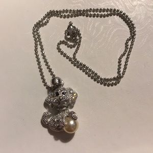 Jewelry - Puppy silver necklace with saltwater pearl